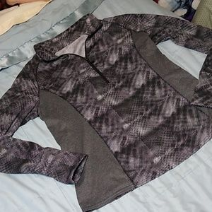 Soybu Pullover 1/4 Zip Jacket Black Gray XL